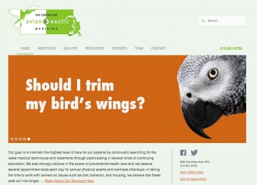 Avian Vet Website