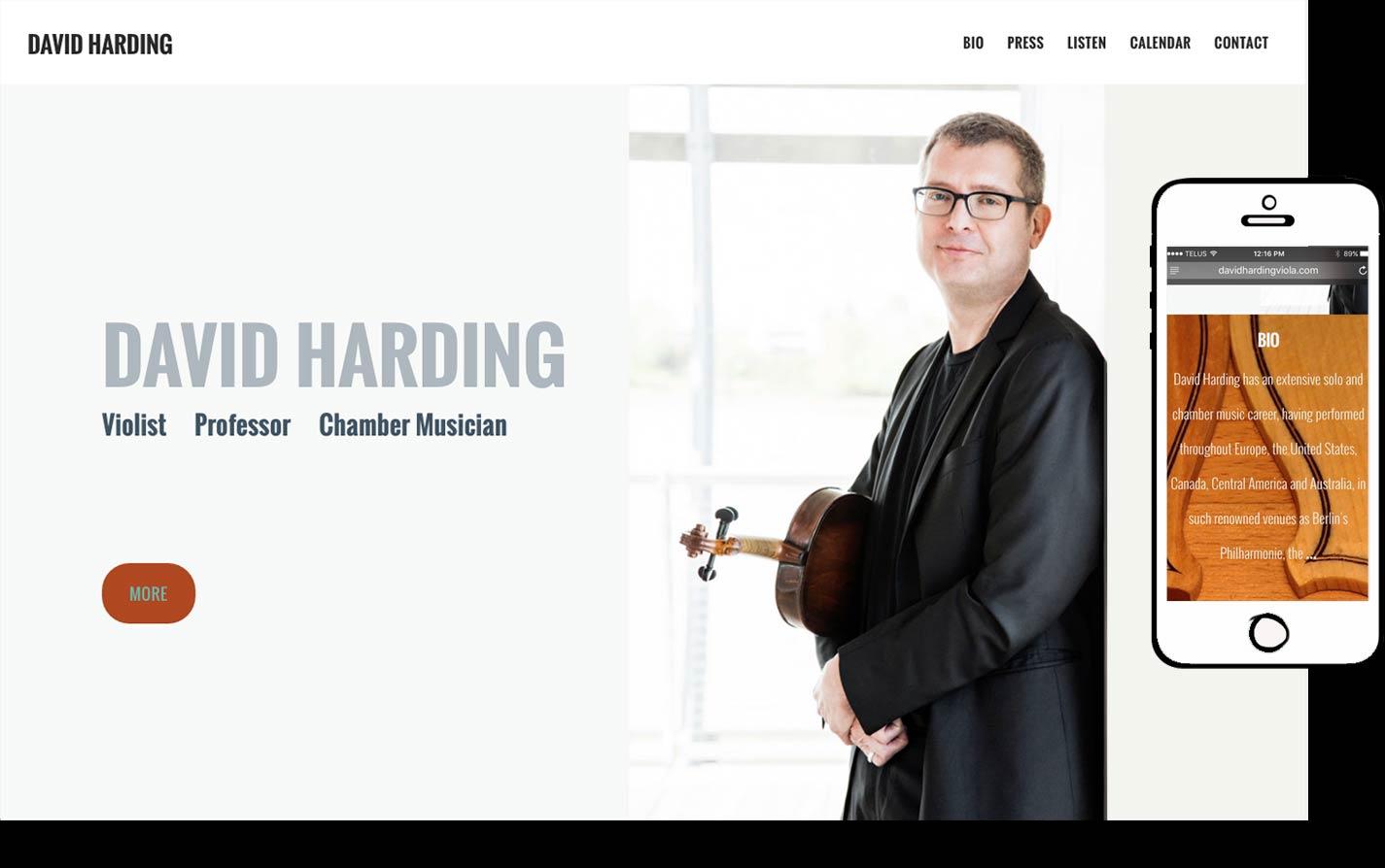 David Harding Website