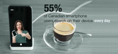 55% of Cdn Smartphone Users Search on their mobile devices every day