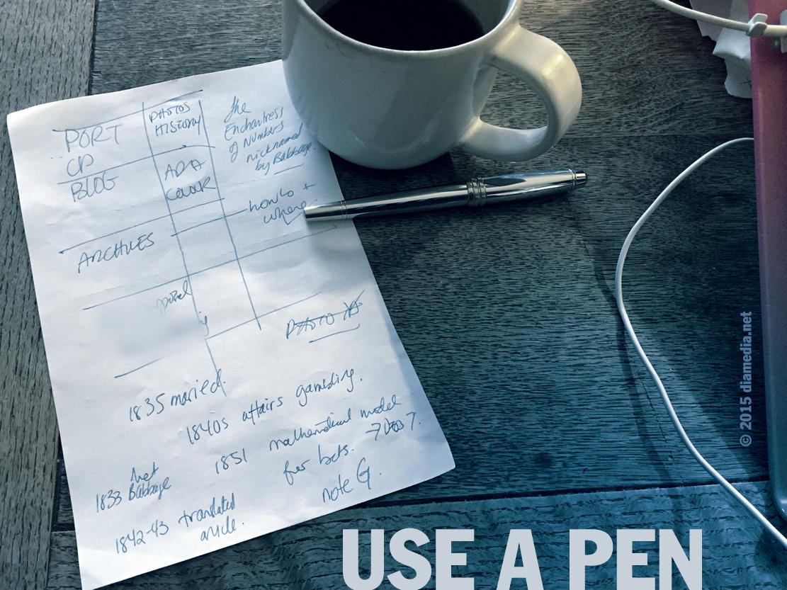 Use a Pen